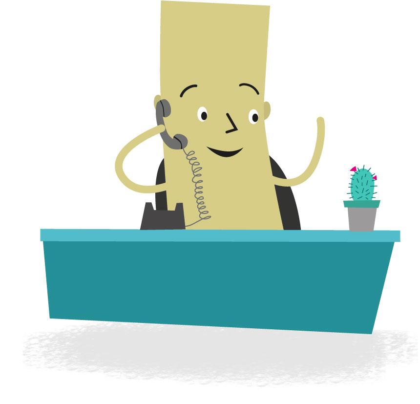 Rectangle desk person